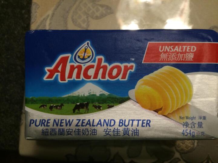 Anchor安佳黄油227g/454g原装进口食用牛油奶油烘焙原料 454克无添加盐 晒单图