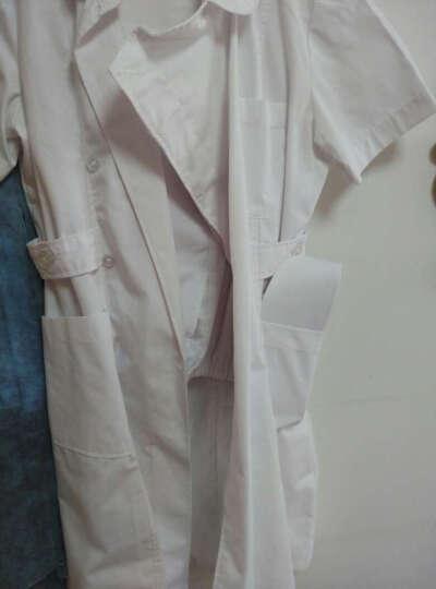 白衣圣雪夏装短袖护士服药店工作服 大褂 导医服NL-11 蓝色短袖 S 晒单图