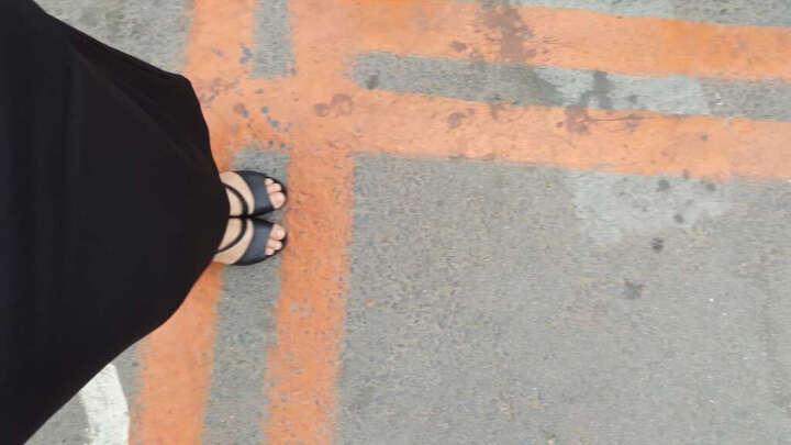 莱卡金顿高跟鞋2018年春季新款圆头纯色女靴子侧拉链细跟女鞋防水台女鞋子 GK61H73黑色 38 晒单图
