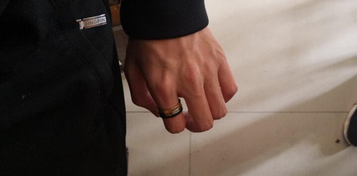 翼力 戒指男潮 欧美男士饰品个性尾戒指环 霸气食指中指戒子 罗马数字可转动 可刻字 美号08号(内直径18.2mm) 晒单图