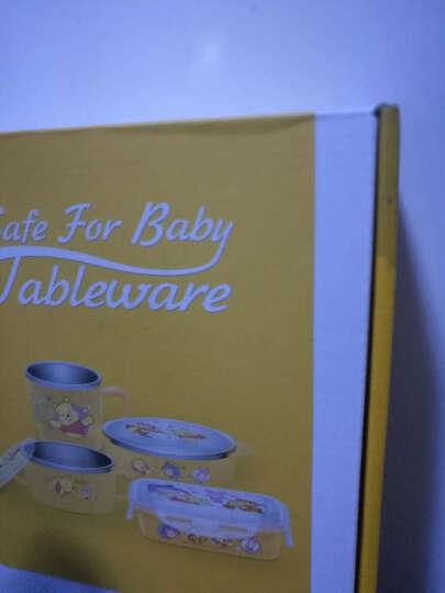 【韩国进口】迪士尼(Disney)维尼儿童不锈钢餐具 儿童餐具套装 婴儿碗水杯饭盒套装 婴儿辅食成长四件套 晒单图