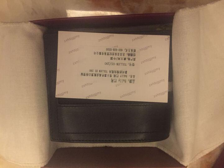BALLY 巴利 男士黑色真皮配黑白织带短款对折钱包钱夹 TOLLEN US 290 晒单图