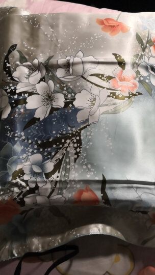 枕水人家真丝四件套 100%桑蚕丝 婚庆套件 床上用品 丝绸被套 双面真丝 西西里之夏 200X230(CM) 晒单图