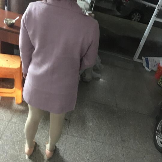 予人玫瑰针织衫女开衫短款长袖毛衣外套2016秋冬新款打底衫 数字系列 XXL码 晒单图