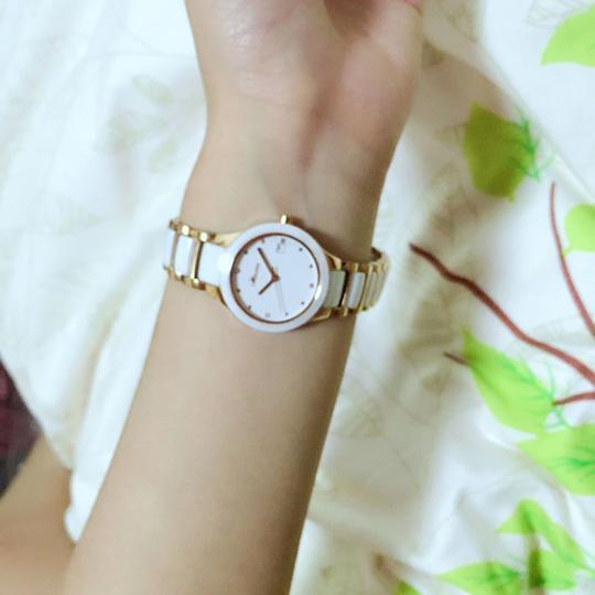 瑞贝拉(REBELA)女表时尚超薄陶瓷防水石英手表女士手表 升级版-钻石玫瑰金 晒单图