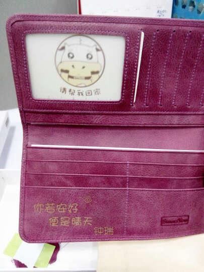 女士长款钱包牛皮超薄软皮个性防盗刷防NFC2019新款卡包多卡位 抹茶绿 竖款 晒单图
