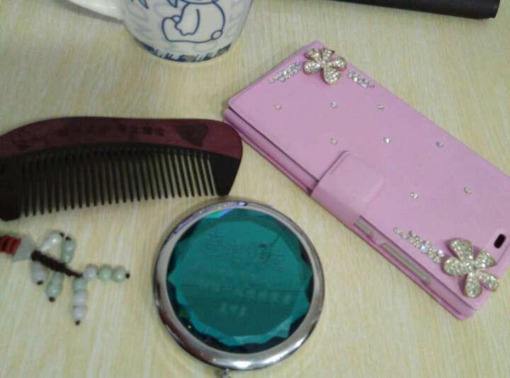 【礼盒+刻字】牛角檀木梳子 生日礼物女生 创意实用礼品送女友老婆 紫罗兰加酒红色镜子 晒单图