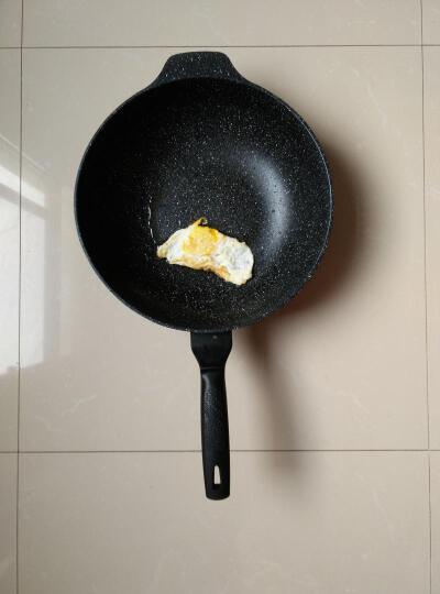 光合生活 炒锅不粘锅 麦饭石少油烟锅平底锅炒菜锅32cm 黑色 晒单图