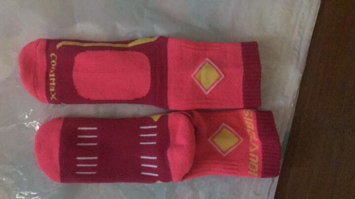 斯博兰帝儿童户外高帮袜子青少年中筒袜秋冬防臭保暖中帮运动袜厚 玫红色 L 晒单图