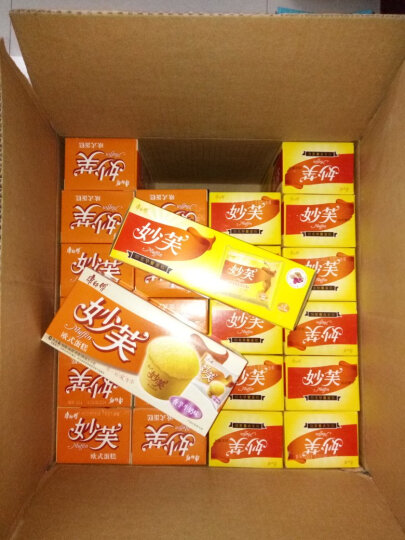 康师傅 妙芙欧式蛋糕96g/盒 小面包蛋糕点心小吃 营养早餐食品 西式下午茶 香芋牛奶味 晒单图
