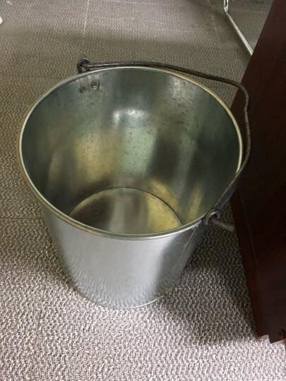 菜友 爱之蔓 加厚铁皮水桶铁桶白铁皮桶水桶浇花桶洗车桶园艺桶提水桶大号水筲 小号直径22cm高23cm 晒单图