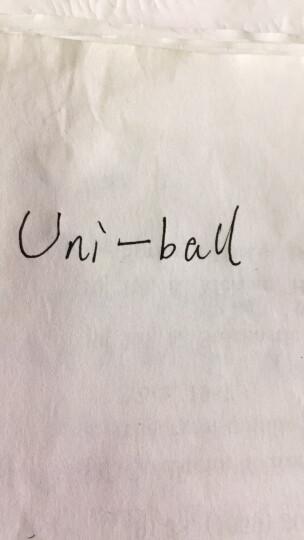 日本三菱(Uni)UB-155中性笔走珠笔0.5mm学生考试用笔耐水耐晒办公签字笔黑色10支装原装进口 晒单图