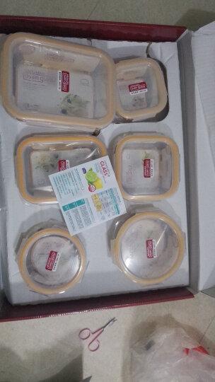乐扣乐扣(LOCK&LOCK)保鲜盒 微波炉饭盒耐热玻璃便当盒6件套  LLG445S914 晒单图