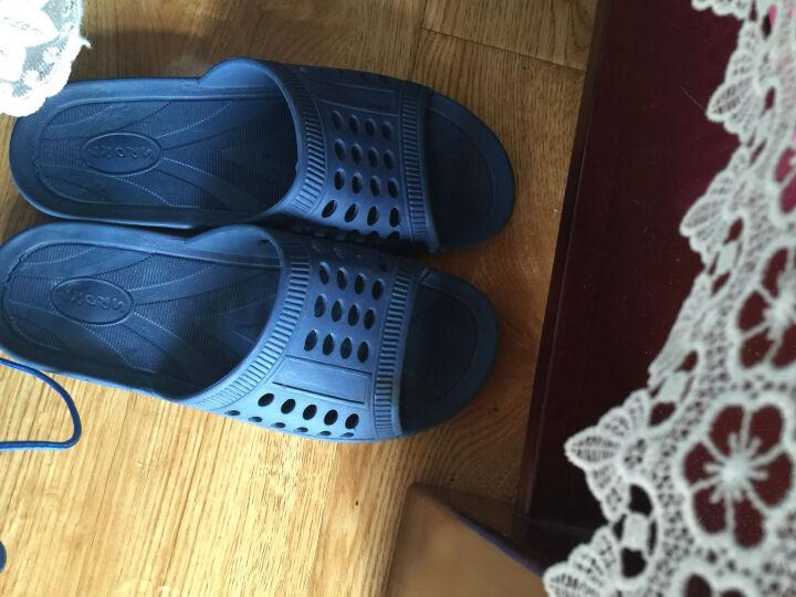 朴西 新款家居凉拖鞋夏天女士居家洗浴拖鞋男软底塑料浴室拖鞋 丈青色 41-42(建议40-41) 晒单图
