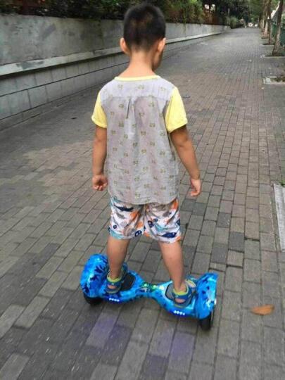 傲凤 儿童平衡车 双轮成人电动代步车两轮智能体感漂移车思维车 10吋音乐蓝牙版-迷彩蓝 晒单图