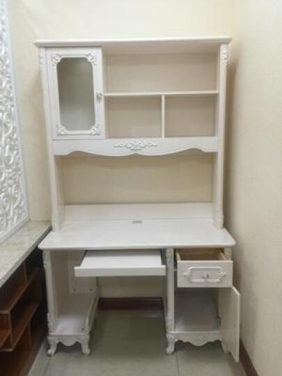 法莉娜实木电脑桌欧式书桌书椅转角书架书柜组合b73