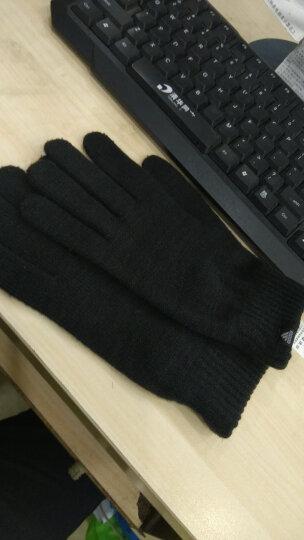 Adidas阿迪达斯男女手套冬季新款运动休闲保暖针织跑步训练手套CY6802 DJ1054 黑色CY6802 以专柜实物为准 晒单图