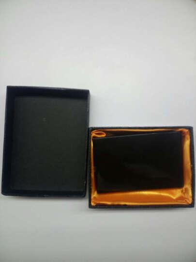 杜尔名片夹男士商务金属名片盒女士办公卡盒可激光刻字 厚款-直线 晒单图