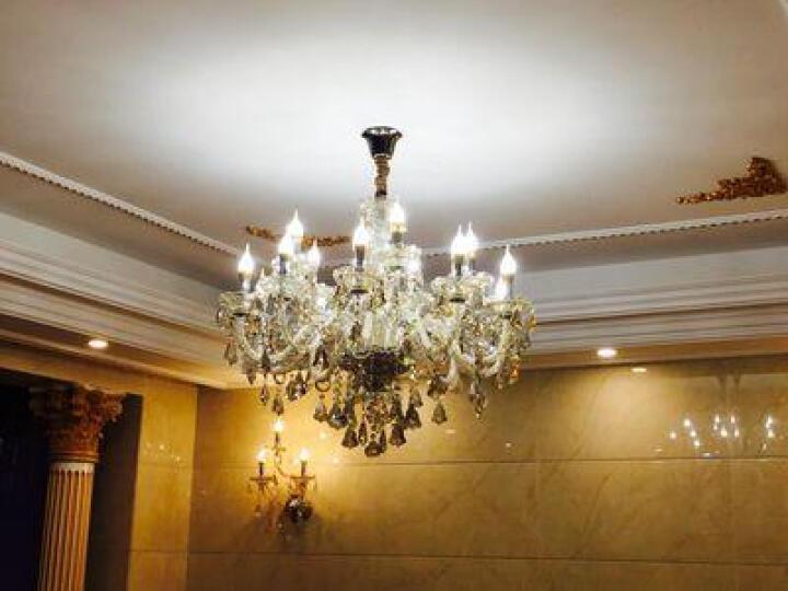 佐凡欧式蜡烛水晶吊灯客厅吊灯餐厅卧室灯饰别墅大厅