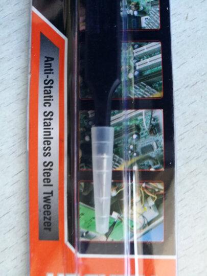 汉顿(Harden)防静电镊子不锈钢镊子精密弯头夹持工具660213 晒单图