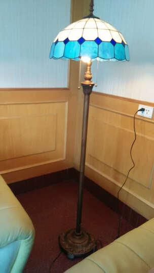 逸品阳光地中海蓝白风情灯饰卧室客厅餐厅书房落地灯浪漫简约立灯蒂凡尼彩色玻璃树脂灯饰礼物灯具 晒单图