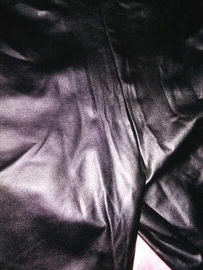 子婳打底裤新款秋冬PU皮裤加绒裤女小脚裤紧身打底裤女外穿保暖 黑色 薄款 XXL建议110斤-140斤 晒单图