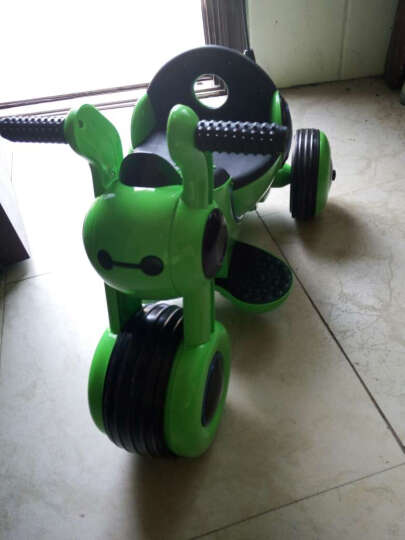 好加(GoodPlus) 好加儿童电动车儿童电动三轮车宝宝小孩可坐玩具车儿童电动摩托车室内玩具童车 草绿色 晒单图