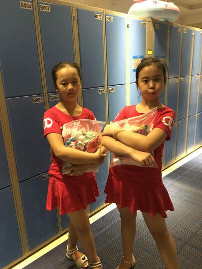 一扇轩 女士短袖休闲运动套装2020夏季纯棉跑步运动服防走光裙裤大码广场舞健美操服装短裙套装两件套 红色 M(70-95斤) 晒单图