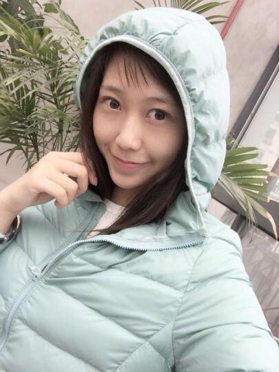 omlesa冬季新款百搭女装时尚简单超轻薄连帽短款修身羽绒服女YR4047 紫色 XL 晒单图