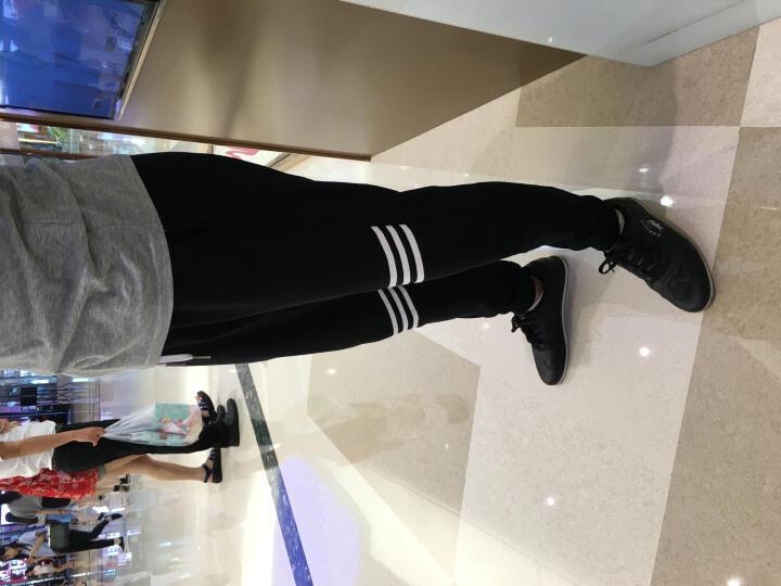 UPlee 运动裤 男  小脚 男士 休闲裤 透气 黑色正面条纹款 L 晒单图
