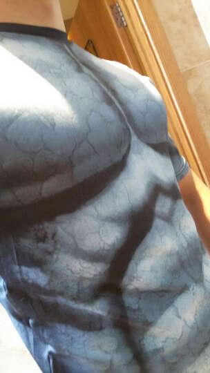 客奕族 2017夏季美国队长男女情侣装弹力运动健身衣紧身衣修身款短袖T恤 1682=蝙蝠侠黑色白骨 170(M码) 晒单图
