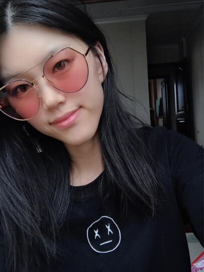 亓那(QINA)太阳镜男女同款眼镜透色墨镜QN8005 A60镜框金色/镜片紫灰【尼龙片】 晒单图