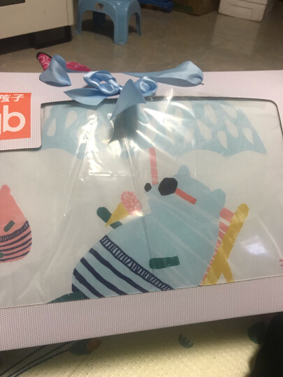 好孩子(gb)幼儿园被子儿童被子婴儿被子宝宝空调被棉被 棉花被蓝色150*125cm礼盒装 晒单图