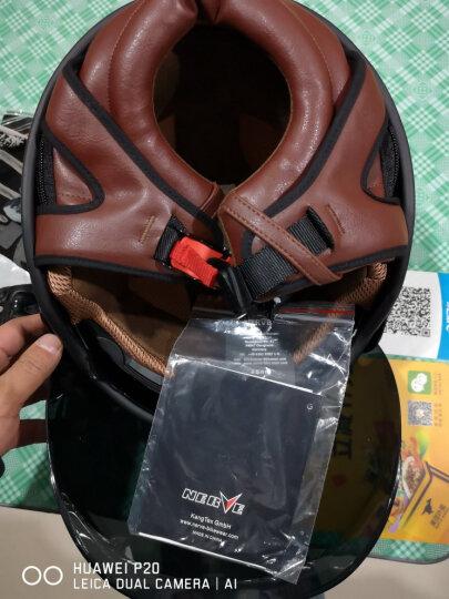NERVE摩托车头盔四季半盔双镜片复古头盔男女安全帽冬季 黑色(带泡泡镜) XXL(适合61-62头围) 晒单图