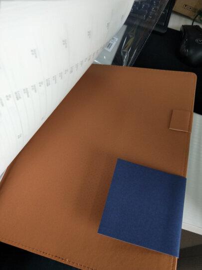 得力(deli)25K100张高档领导款活页皮面本 商务办公记事本笔记本子 蓝33051 晒单图