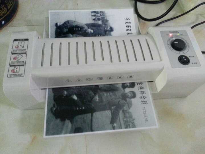 得力(deli)3891 塑封机 照片过塑机 A4相片过胶机热封冷裱两用覆膜机 灰色 晒单图