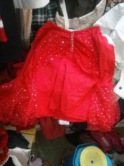 SiGeTu 广场舞服装套装女春秋中老年中袖网纱假两件裙裤表演服 玫红色 XL 晒单图