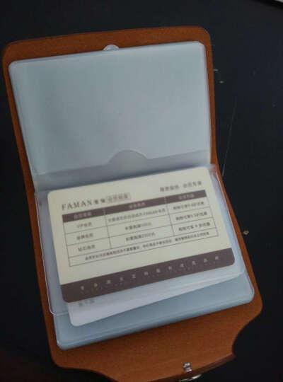 斐曼男士名片包牛皮卡套女多卡位名片夹商务小卡包男韩国卡包20卡位 箭雨古铜 晒单图