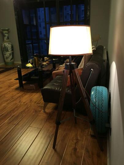 赫曼客厅落地灯实木三脚架落地灯布艺可伸缩型木艺酒店别墅卧室装饰美式原木灯具LF1001 晒单图