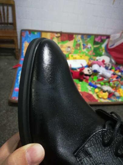 APPLE苹果男鞋 夏季新款男士皮鞋男加绒款保暖正装鞋商务休闲棉鞋子男潮流英伦鞋子 男 K9997 黑色 42 晒单图