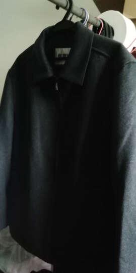 恒源祥男士夹克2019秋季新款毛呢外套加厚中年男装翻领爸爸装茄克衫 H6058藏青加棉款 175/92A 晒单图