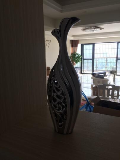 凡赛宫 包邮装饰花瓶摆设现代简欧创意家居装饰摆件 新房酒柜电视柜玄关工艺品装饰品送朋友礼物 对白银凤凰瓶 晒单图