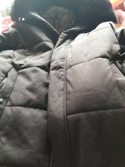 中老年男装2019冬季男士棉衣棉服爸爸装加厚保暖纯色毛领父亲老人棉袄外套 8802黑色 2XL 晒单图