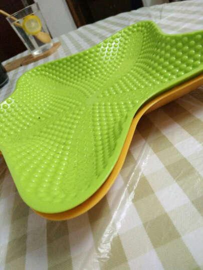 欧凯斯(OKISS) 欧凯斯时尚炫彩五角海星多用水果盘果盆创意塑料盘干果盘零食盘 玫红色 晒单图