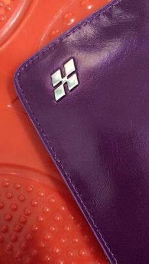 HAUTTON 女士钱包头层牛皮长款商务手拿包女包女孩卡包晚宴包零钱包可放驾驶证钱夹买3免1新品 淑女紫色SZB41 晒单图