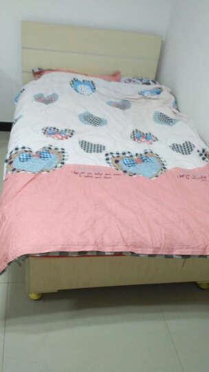 南极人 全棉四件套双人斜纹印花田园风纯棉被套床单单人学生宿舍三件套床上用品 春晓-绿 1.2米床适用(被套150*200cm)三件套 晒单图
