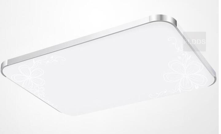 PLDDS灯饰led吸顶灯客厅长方形灯具卧室餐厅灯走廊过道卫生间水晶平板书房现代简约 纯白长110*70CM白光LED 晒单图
