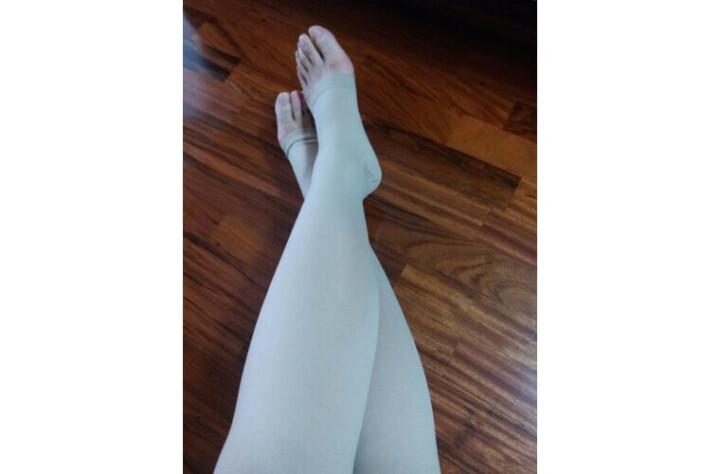 【买1送1】舒而适防静脉曲张袜医用女男士弹力袜子二三级压力袜护小腿袜套 美腿袜护士弹力袜 二级肤色(小腿) M (小腿肚31-34cm) 晒单图