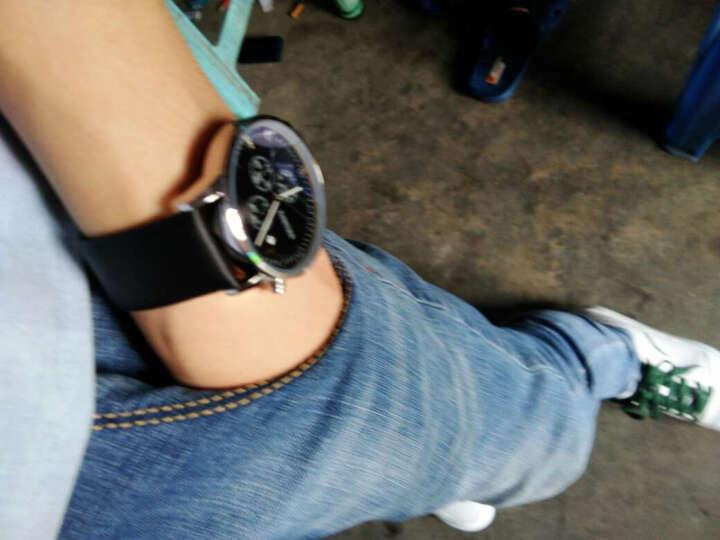 卡诗顿 手表男皮带手表防水商务男士手表腕表石英表英伦风个性时尚三眼男表 880银壳蓝面钢带 晒单图