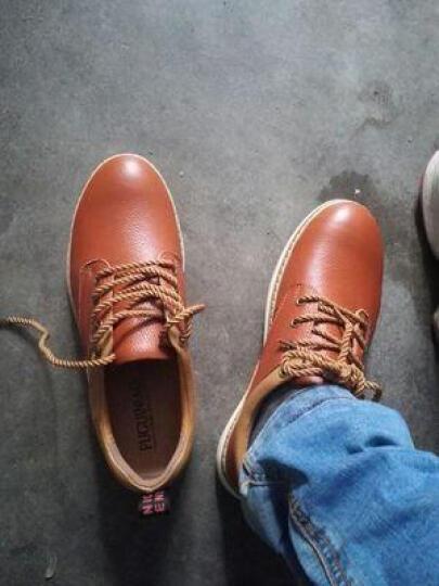 富贵鸟 新款休闲鞋真皮鞋韩版男鞋板鞋驾车豆豆鞋结婚鞋 黑色 40皮鞋码 晒单图